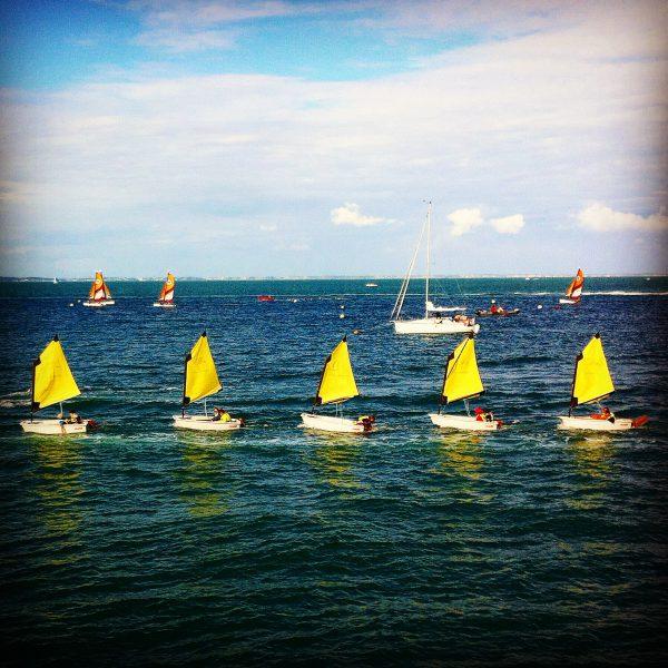 Sortie en mer pour les optimists à Noirmoutier